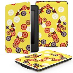 MoKo Case for Kindle Paperwhite Premium Thinnest and Lightest PU Leather Cover with Auto Wake  Sleep for Amazon AllNew Kindle Paperwhite Fits 2012 2013 2015 and 2016 Versions Daisy Yellow * Detailed information can be found by clicking on the VISIT button