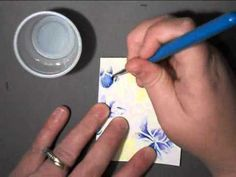 Embossing and Aquarelle Watercolor Pencil Tutorial by Jill Foster