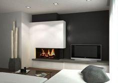 Fireplace Tv Mantel Ideas Best 25 Tv Above Fireplace Ideas Fireplace Tv Wall, Modern Fireplace, Fireplace Design, Fireplace Glass, Living Room Tv, Foyers, Home Interior Design, Living Room Designs, Family Room