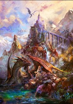 Dragon Bard by SharksDen female harp castle | NOT OUR ART - Please click artwork for source | WRITING INSPIRATION for Dungeons and Dragons DND Pathfinder PFRPG Warhammer 40k Star Wars Shadowrun Call of Cthulhu and other d20 roleplaying fantasy science fiction scifi horror location equipment monster character game design | Create your own RPG Books w/ www.rpgbard.com