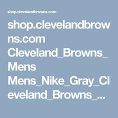 shop.clevelandbrowns.com Cleveland_Browns_Mens Mens_Nike_Gray_Cleveland_Browns_Stadium_Touch_Performance_Long_Sleeve_T-Shirt
