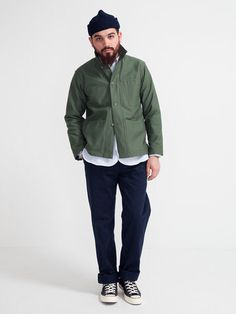 Engineered Garments workaday utility jacket completes this great outfit