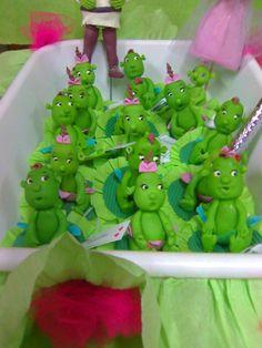 son souvenirs de los hijos de Fiona y Shrek