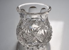 Vintage Cut Glass Toothpick Holder Libbey Clear by ClassicKarma