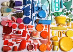 color wheel made out of found objects - Google Search