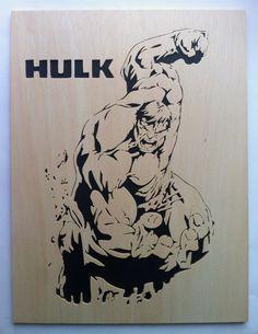 Hulk wooden decoration scrollsaw work by Planetasierra on Etsy
