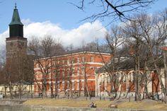 Suomen ensimmäinen koulu oli Turun katedraalikoulu eli Tuomiokirkkokoulu.Katoliset munkit perustivat sen todennäköisesti jo 1200-luvulla,oletettavasti v.1276 poikien kouluttamista varten kirkon palvelukseen.Koulurakennus sijaitsi tuomiokirkkoa ympäröivässä muurissa ja koulumestari piti ankaraa kuria.Koulua ylläpiti kirkko ja opetus palveli lähinnä pappien kasvatusta.