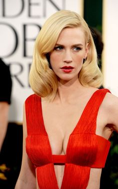 January Jones with a glamorous do