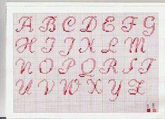Letras punto de cruz pequeñas para bordar babis - Imagui
