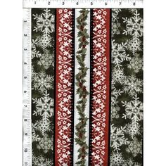 Elegantly and artistically designed, this fabric can stand on its own or be used in coordination with our Red Spherical Stripe fabric, whichever you prefer.  http://www.americasbestthreads.com/quilt-cotton-fabric-holiday-holly-stripes-stripes.html