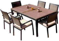 RST Outdoor OP-ALTS7-ZEN Dining Set Patio Furniture, 7-Piece