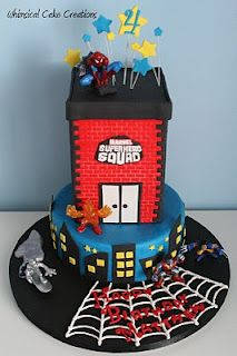 WhimsicalCreations.ca: Super Hero Squad Birthday Cake