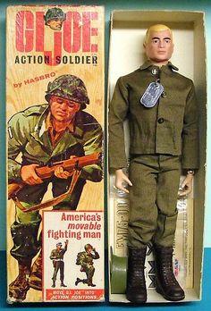 Hasbro introduces the Action Figure – GI Joe Vintage Toys 1960s, 1960s Toys, Retro Toys, Vintage Dolls, 1970s Dolls, Vintage Kids, Vintage Games, Vintage Stuff, Barbie Dolls