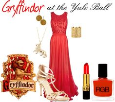 """""""Gryffindor at the Yule Ball"""" by nearlysamantha on Polyvore"""