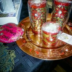 Henna Inspired Plates and Candles