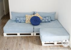 How to make a sofa using pallets including step by step photos and instructions.
