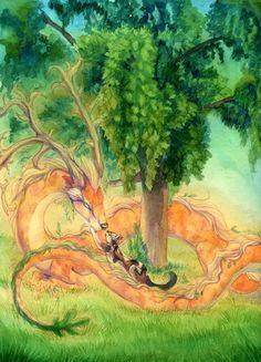Under the tree by `hibbary on deviantART