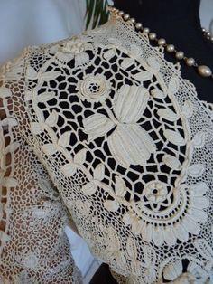 Gorgeous Edwardian Irish Crochet Lace Blouse, ca. 1910