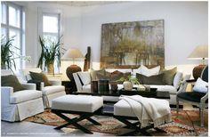 Haus Design: Slettvoll: Ralph Lauren With A European Twist Living Room Interior, Home Living Room, Home Interior Design, Living Room Designs, Living Room Decor, Living Spaces, Living Room Inspiration, Interior Inspiration, Transitional Living Rooms