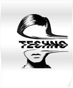 'Techno Music' Poster by Ferrazi - Nina K. - 'Techno Music' Poster by Ferrazi Techno Music Poster - Music Poster, Music Logo, Dj Logo, Edm Music Festivals, Event Poster Template, Indie, Techno Music, Hippie Art, Tecno