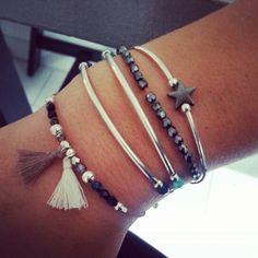 Nouvelle collection Majabel #bracelet #Majabel #pompon #hématite #étoile