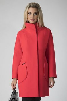 Red Coat Outfit, Coat Dress, Hijab Fashion, Fashion Outfits, Womens Fashion, Neoprene Fashion, Dress Suits, Jeans Dress, Coats For Women