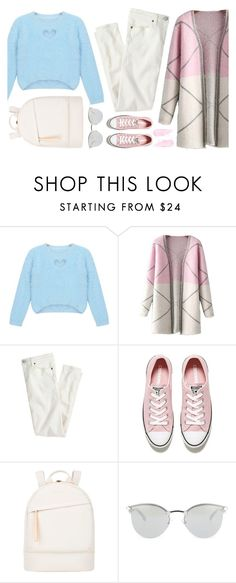 """:: 11.01.16 ::"" by andreearucsandraedu ❤ liked on Polyvore featuring Chicnova Fashion, J.Crew, Converse, Want Les Essentiels de la Vie and Fendi"
