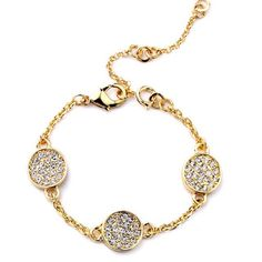 This Pave Coin #Bracelet has us like #subscriptionboxjewelry #instajewelry #instajewels #fashion #sparkle #subscriptionbox #fblogger by yourbijouxbox