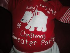 babies first ugly christmas sweater party