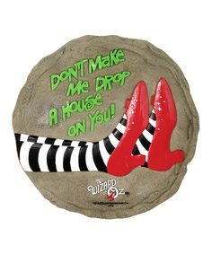 Wizard Of Oz Stepping Stone Drop A House 13330 Spoontiques Rock Painting Patterns, Rock Painting Ideas Easy, Rock Painting Designs, Pebble Painting, Pebble Art, Stone Painting, Rock Crafts, Arts And Crafts, Halloween Rocks