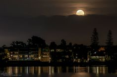 Moonrise over San Diego bay this evening, 11-18-13.  Photo by Alex Baltov Photography