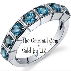 'Genuine London Blue Topaz .925 Sterling Silver Ring SZ ' is going up for auction at  7am Fri, Oct 19 with a starting bid of $1.