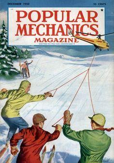Great vintage Popular Mechanics magazine cover! Hilarious!