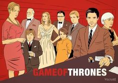 Game of Thrones Characters Reimagined in Mad Men