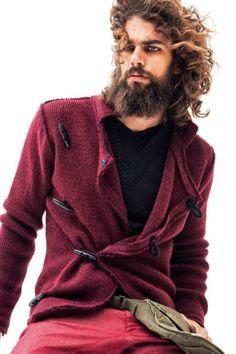 Beards. Men's hair. Men's style and fashion. Spyros Christopoulos for TailorMade Knitwear. Bearded men. #beard