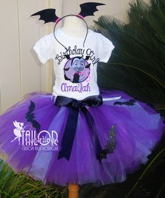Vampirina Bat Glitter Personalized Birthday tutu set Diy Birthday Shirt, Glitter Birthday, Birthday Tutu, Halloween Birthday, Unicorn Birthday Parties, Birthday Celebration, First Birthday Parties, 5th Birthday, Girl Birthday Themes