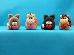 polymer clay cats by Pee-Wee's ClayHouse