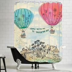 Americanflat Touch The Sky Shower Curtain & Reviews   Wayfair.ca