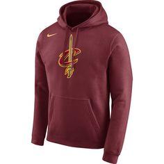 d1014c91ed0 Nike Men s Cleveland Cavaliers Club Burgundy Pullover Hoodie