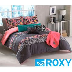 From overstock com roxy samantha floral comforter set roxy samantha