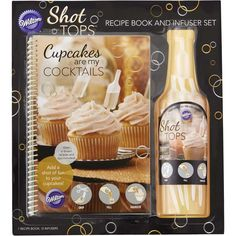 Imagine the fun you will have making, serving and enjoying this collection of boozy cupcakes. The Cupcakes are my Cocktails book features 15 easy-to-follow recipes with full color photos to help you bake and decorate trendy blends of drinks refashioned into cupcakes. Add a blast of flavor using the included Shot Tops flavor infusers to get the party started. Try recipes like Jack and Ginger, Sangria and Pink Champagne cupcakes. Recipe book includes 12 Shot Tops to infuse fun into your…