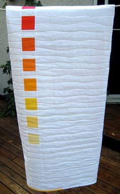 I'd do a full field with gradient blocks. Free Motion Quilting, Quilting Tips, Quilting Tutorials, Machine Quilting, Quilting Projects, Quilting Designs, Backing A Quilt, Walking Foot Quilting, How To Finish A Quilt
