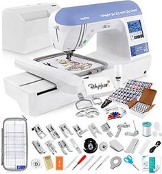 Brother SE1800 Sewing and Embroidery Machine + Grand Slam Package Includes 64 Embroidery Threads + Prewound Bobbins + Cap…