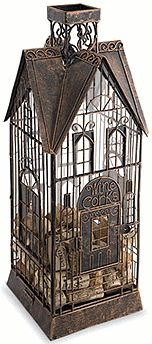 """A """"regular"""" cage birdhouse could also work for as a cork holder..........."""