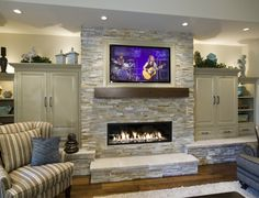 Built in's surround Fireplace/TV.