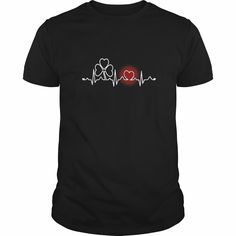 Clover heartbeat for St Patricks day T-shirt - Irish T-shirt, Order HERE ==> https://www.sunfrog.com/LifeStyle/114057635-433130970.html?53624, Please tag & share with your friends who would love it , #christmasgifts #birthdaygifts #renegadelife