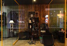 Barboss Barbershop and tattoo salon by Workshop Dmitriy Grynevich, Kiev – Ukraine Barber Shop Interior, Barber Shop Decor, Shop Interior Design, Retail Design, Tattoo Salon, Tattoo Studio, Parlour Design, Best Barber Shop, Shop Buildings