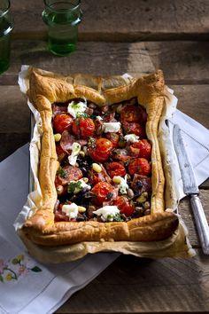 Tomaten-bonentaartje