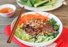 bun thit nuong vietnamese grilled pork with vermicelli noodles