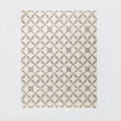 Tile Wool Kilim - Platinum